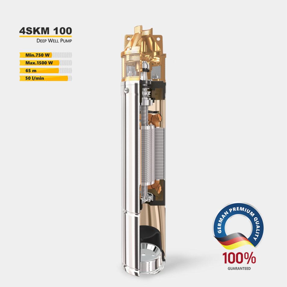 Глубинный насос 4SKM 100 в разрезе