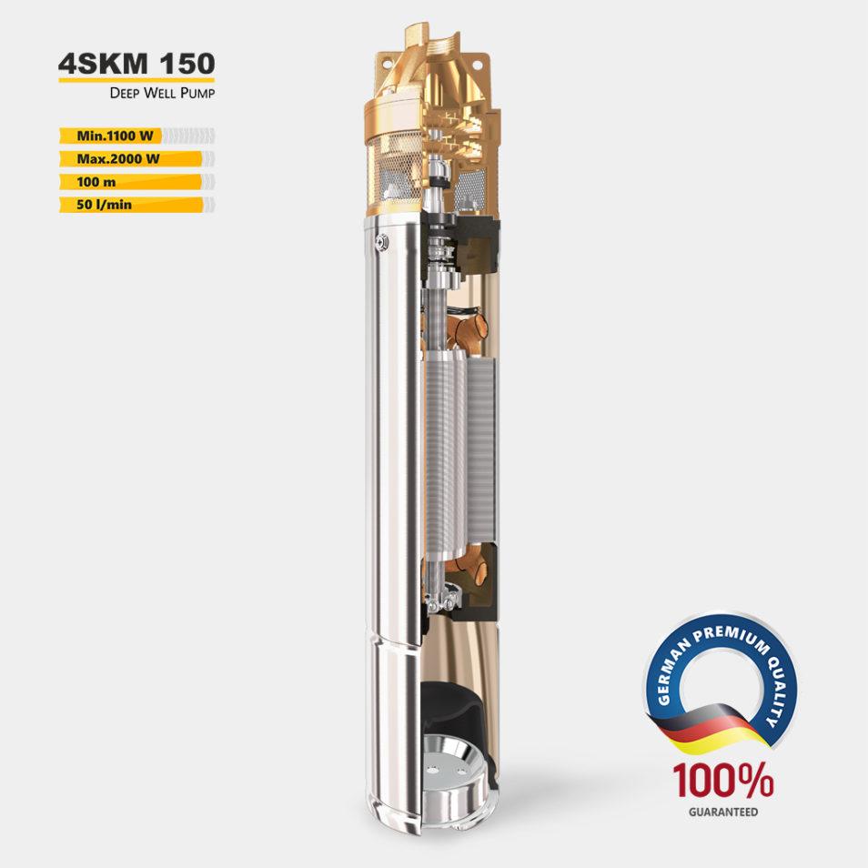 Глубинный насос 4SKM 150 в разрезе